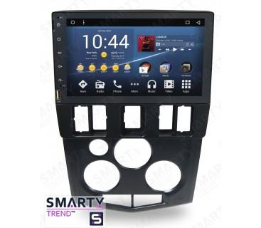 Renault Logan (Black and Silver) Autoradio Android Con Navigazione Integrata Unità di Testa