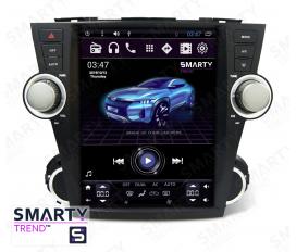 Toyota Highlander 2007-2014 - Tesla Style Autoradio Android Con Navigazione Integrata Unità di Testa