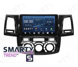 Toyota Hilux 2012 (Manual Air-Conditioner version) Autoradio Android Con Navigazione Integrata Unità di Testa