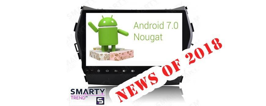 Unità di Testa SMARTY Trend aggiornate con il nuovo Android 7.1 Nougat e il nuovo processore Octa-Core T8.