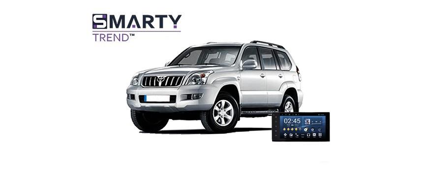 Toyota Land Cruiser Prado 120 2004 Android Autoradio Con GPS Integrato Unità di Testa - SMARTY Trend.