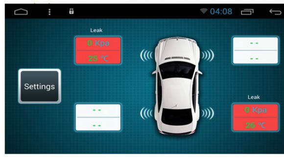 Applicazione speciale per SMARTY Trend: controllo della temperatura e della pressione dei pneumatici